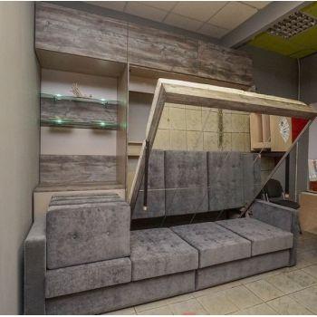 """Шкаф-кровать  с  диваном и зеркалом """"Мирров"""""""