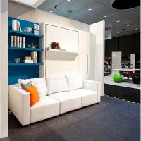 Шкаф кровать с большим диваном