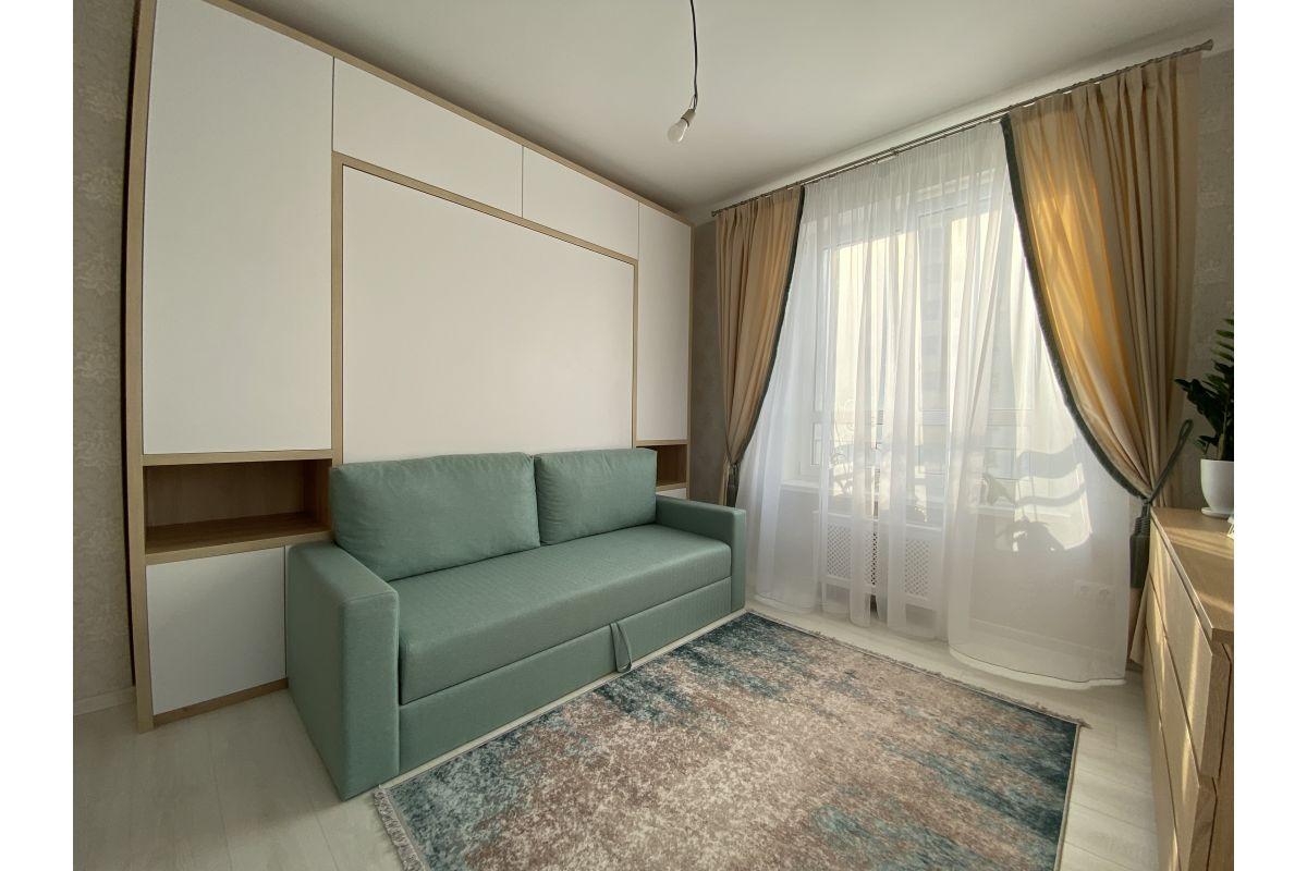 """Кровать-шкаф  с диваном цвета """"Мята"""": ул. Одоевского"""
