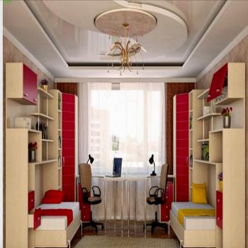 """Кровати  трансформер в детскую горизонтальные со столами и шкафами """"Чизлани"""""""