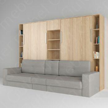 Кровати трансформер для двоих с диваном (вертик.)