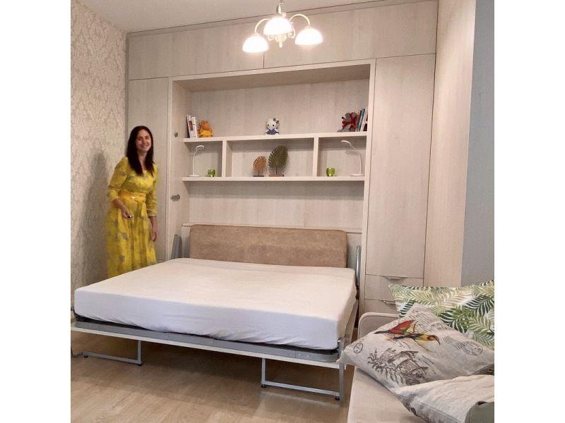 Кроватью трансформер в гостиную с угловым шкафом: ул. Германовская, д.9