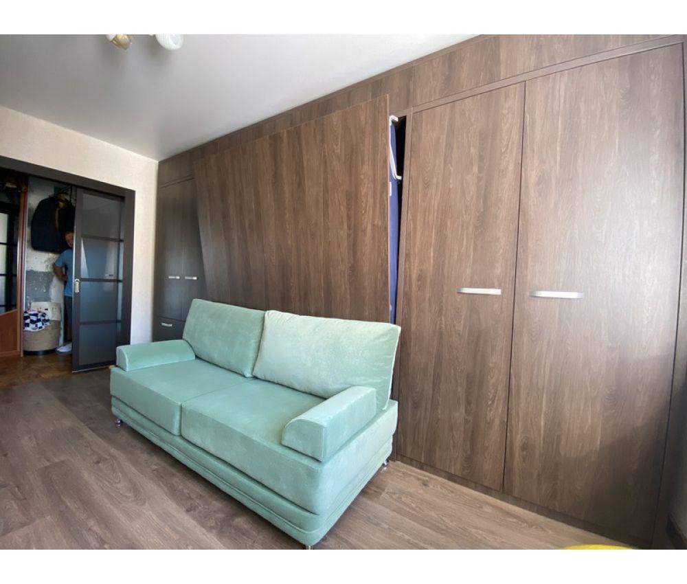 Кровать трансформер со шкафами и диваном в гостиную: ул. Бурдейного, д.11