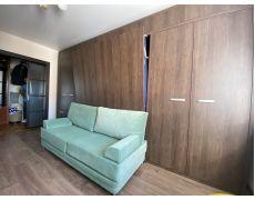 Кровать трансформер стенкой с диваном