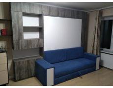 Кровать трансформер с синим диваном